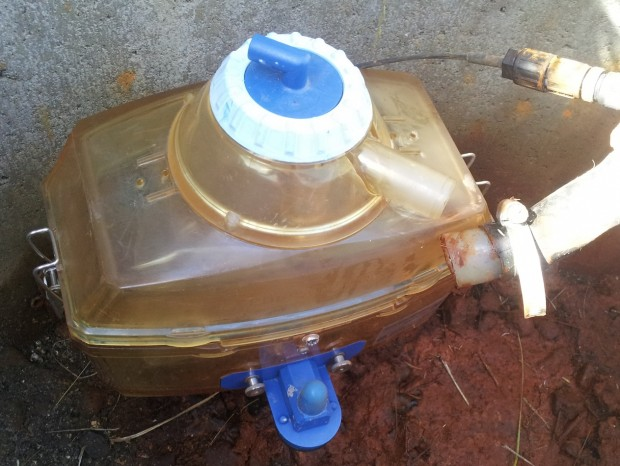 Installed tipping counter and leachate sampling